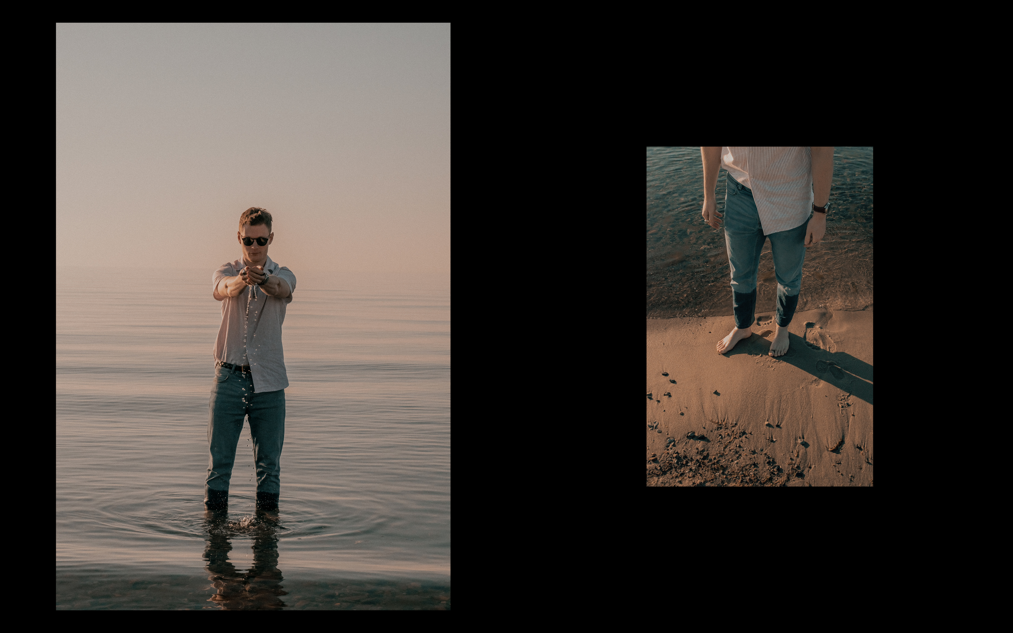 Portrait De L'Homme - menswear summer editorial - forgotten days at the beach
